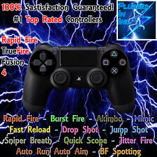 SONY PS4 MODDED RAPID FIRE CONTROLLER, BLACK, WW2,  DESTINY 1-2, BO3, BF1