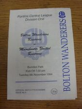 22/11/2006 Bolton Wanderers Reserves v Manchester City Reserves [At County Groun