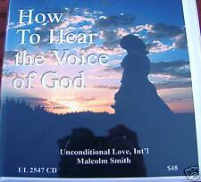 """Malcolm Smith """"How to Hear the Voice of God"""" 6 hrs cd's"""