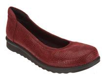 Vaneli Printed Leather Wedge Pumps - Donia Wine Burgundy Womens Shoes 7W New