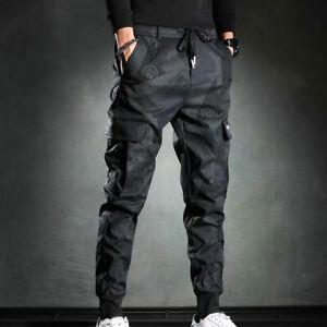 Homme Décontracté Jogger Pantalon Survêtement Cargo Combat Desseré Streetwear