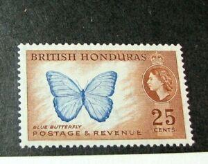 British Honduras Stamp Scott# 151 Blue Butterfly 1953-57 MH H200