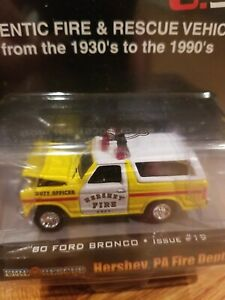 Racing Champions 80 1980 Ford Bronco Hershey Pennsylvania Fire Dept & Rescue Car