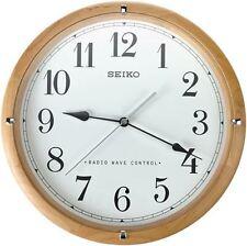 Seiko QXR303Z Radio Controlled Wooden Wall Clock