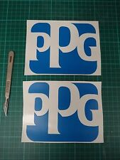 2x PPG Decal Mid Spray Gun Paint Booth Work Shop Wall Sticker Body 2k Base