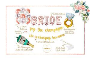 Gold Bachelorette Party Decorations Kit Bridal Shower Foil Balloons Supplies