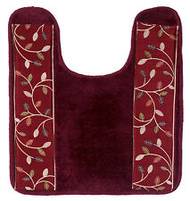 Popular Bath Aubury Burgundy Collection - Bathroom Contour Toilet Commode Rug