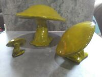Vintage Mid Century Anthony Freeman & McFarlin Pottery 3 Mushrooms Rare EUC
