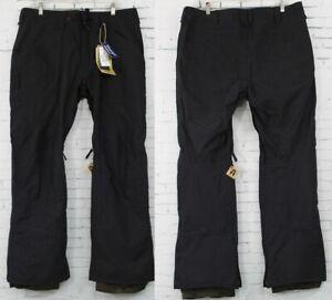 New 2017 Burton Mens Southside Mid Fit Snowboard Shell Pants XL True Black