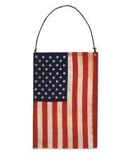 """Bethany Lowe """"Americana Flag Ornament"""" made of tin covered w/ paper flag design"""