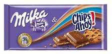 Tablette Milka de 100 gr Mélange de chocolat  alpin Milka et chips ahoy.