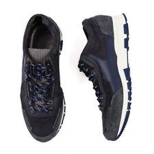 NIB LANVIN Navy Blue Multi-Material Cross Trainer Sneakers US 11 (It 10) 44