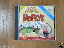 PC GAME POPEYE MAAK JE EIGEN STRIP COMIC SPINACH 1997BOMBILLA VNU