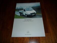 Mercedes Benz Sprinter Pritsche Prospekt 05/2001
