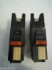 2 NEW STAB LOK 50 AMP CIRCUIT BREAKER SINGLE POLE 2 PIECES IN THIS LOT