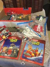 Trio  Bricks Fire House And Rescue Boat, Incomplete Lot