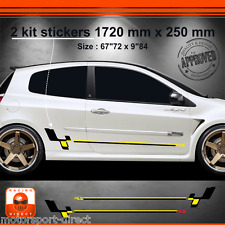 Sticker Renault Clio RS 3 tuning sport aufkleber adesivi pegatina decal 514NJ