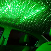 USB LED Auto Car Roof Star Night Interior Light Atmosphere Galaxy Lamp Green