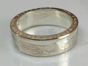 Münzring 5 Reichsmark Adler 1936-39 Silber 900er Größe 52 bis 72 Ring poliert