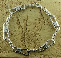 ACTS Bracelet Fishers Of Men Sterling Silver 7 LARGE LINK New Style!!