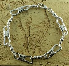 ACTS Bracelet Sterling Silver Fishers Of Men Bracelet With Cross! NEW MODEL!
