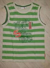 Kinder T-Shirt Jungenshirt Gr. 146 Ärmellos gestreift Sommer Kindershirt
