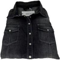 Camicia Donna Denny Rose  Maniche Lunghe Elasticizzata Nero Shirt Woman Made ...