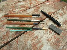 Vintage Job Lot Calligraphy Caligraphy Pens Fountain Pen & Assorted Nibs