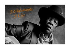 More details for john lee hooker 1 a4 reproduction autograph poster with choice of frame