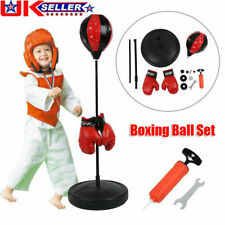PUNCH BAG BALL AND MITTS GLOVES KIT BOXING SET FOR KIDS FREE STAND ON SALE