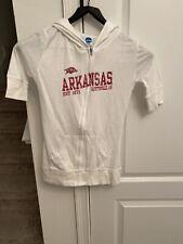Arkansas Razorback 3/4 Zip Up T Size M