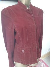 MOTO rusty red cordroy effect cotton casual jacket size 10