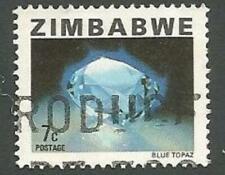 Zimbabwe Scott# 418, Blue Topaz, 7c, Used, 1980