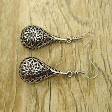 Retro Tibet Silver Tone Earrings unique flora Dangle Women Charm Fashion Jewelry