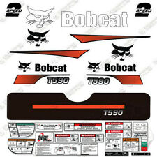 Bobcat T590 Decal Kit Skid Steer (Curved Stripes)