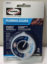 New Harris Plumbing Solder 3 Packages Silver Bearing Solid Wire 3oz 335193