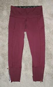 LULULEMON Capri Pants REBEL RUNNER CROP Leggings WINE BERRY $88 Luxtreme Sz 6
