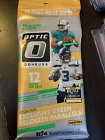 2020 Donruss Optic NFL Football Value Fat Cello Pack - Factory Sealed