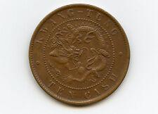 China Kwangtung 10 Cash 1900-06  XF/AU Condition !!!