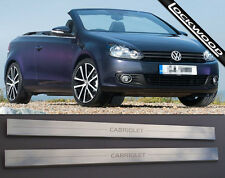 VW Golf Mk6 Cabriolet/Convertible (released 2010) Sill Protectors / Kick plates