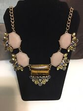 Gorgeous Statement Necklace With Genuine Tiger's Eye Stone
