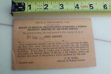 Fiji Medical Department 1967 Disease Advisory Surfboard Vintage Surfing Card