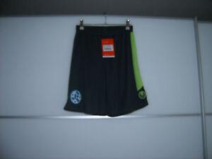Uhlsport Kinderfußballshorts mit Kickers Emblem grau neongrün 100%Polyester