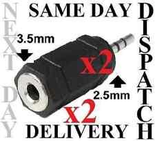 2,5 mm/2.5 mm A 3.5 / Jack 3,5 Mm Mini Adaptador Para Auriculares