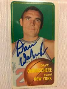 Dave Debusschere Signed 1970-71 Topps Card NEW YORK KNICKS HOF REDUCED