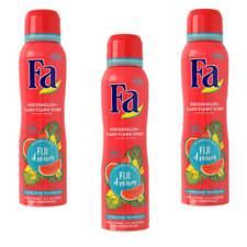 ( 22,11€/ L) 3x 150ml FA FIJI Dream Desodorante Spray SANDÍA YLANG Anti Mancha