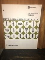 Industrial Tubes Interchangeability List General Electric 1961