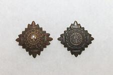 Two Original WW2 Royal Canadian Army Officers Metal Uniform Rank Pips
