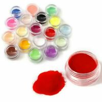 18 Colors Nail Art Powder UV Gel Powder Dust Nail Acrylic Manicure DIY Decors