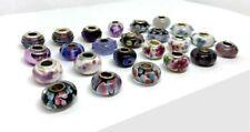24 Pcs Asst. Purple Big Hole Glass Beads Fit Pandor European Bracelet